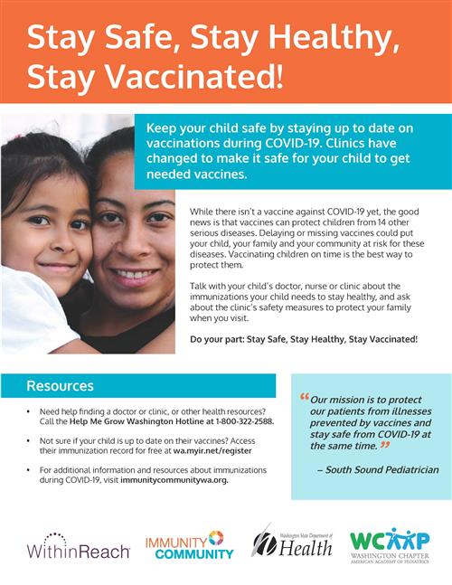 Stay Safe, Stay Healthy, Stay Vaccinated