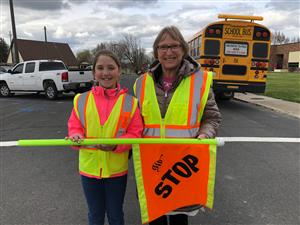 RGS Student and Teacher recognized for AAA School Safety Patrol Service