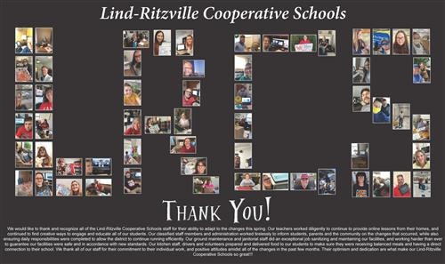 Lind-Ritzville Cooperative Schools Staff Thank you